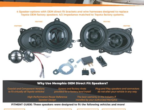 NEW Memphis Direct Fit Speakers! Toyota, Lexus, Scion, and Pontiac Compatable